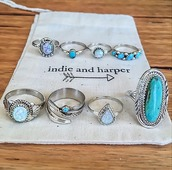 jewels,ring,jewelry,aqua,silver,fashion,gypsy,indie,navajo,bagues,jowels,jowel,bleu,blue,argent,indie and harper