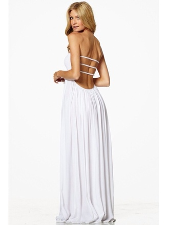 dress white white dress maxi maxi dress maxi dress white cage dress cage back