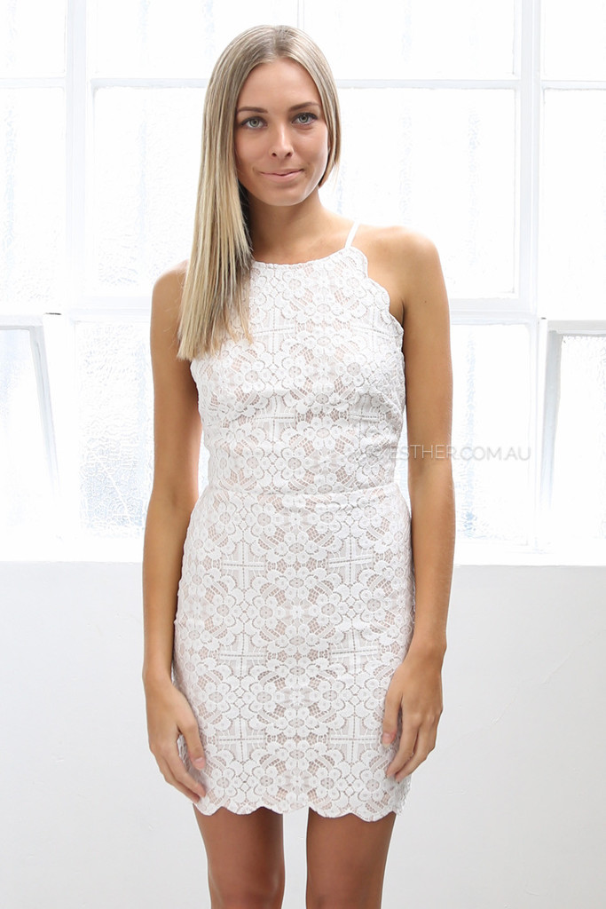 Tyler Lace Dress Ivory Esther Clothing Australia And