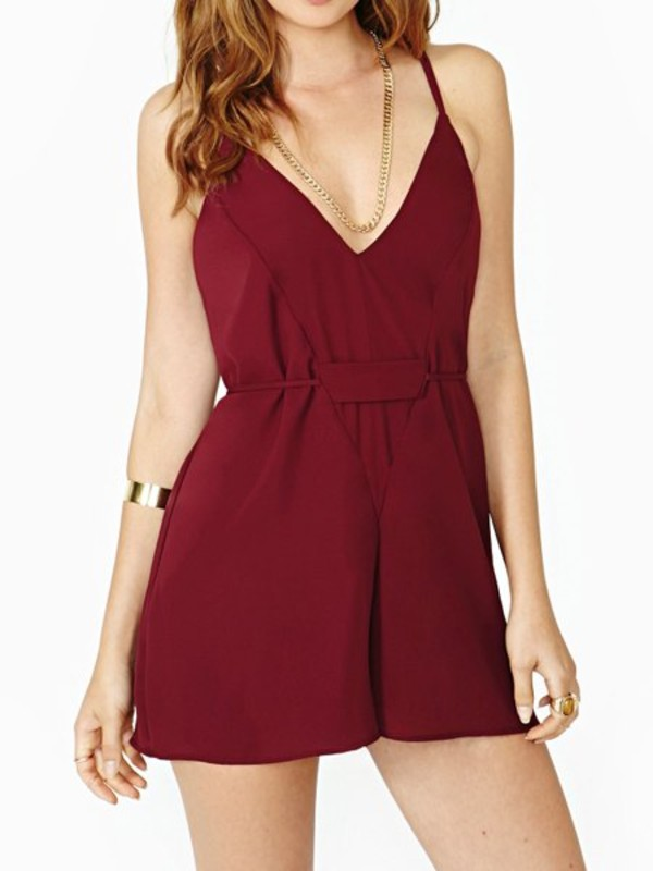 romper romper shorts red wine summer summer outfits summer romper