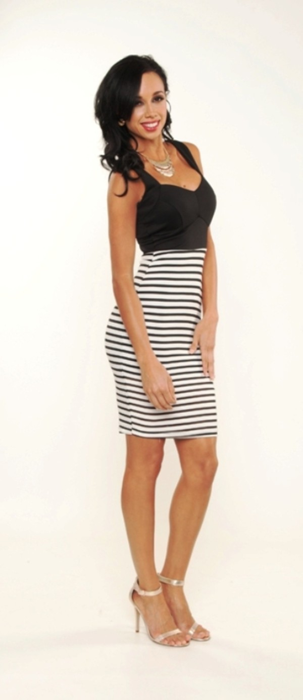 dress stripes knee length