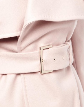 Ted Baker | Ted Baker Short Coat with Big Collar and Belt at ASOS