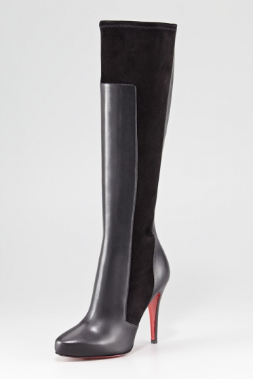 Leather Stitching Thigh High Boots [XHM0012] - PersunMall.com