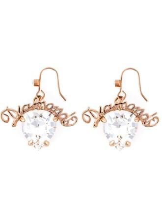 heart earrings heart earrings white jewels