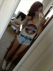 shorts,jh,shirt,shoes,cute,cutie,band,cool,girl,teenagers,pretty,perfect,actress,singer,model,skinny,acacia brinley,tank top