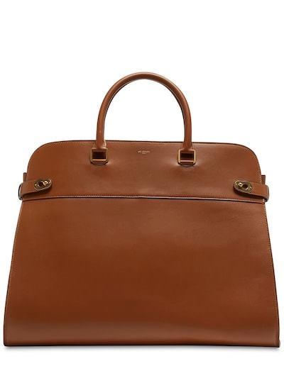 AU DEPART Le Geant Madeleine Leather Bag Cognac
