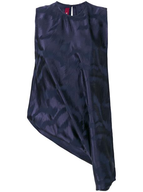 SIES MARJAN blouse women blue silk top