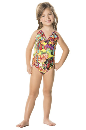 swimwear kids fashion agua bendita designer kids designer swimsuit one piece bikiniluxe