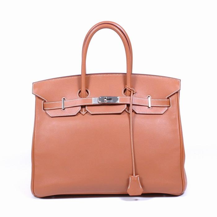 HERMES AUTHENTIC BIRKIN 35 BAG TASCHE SWIFT PALLADIUM | eBay