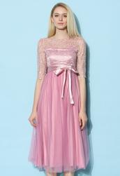 dress,chicwish,sakura fairy tulle prom dress,party dress,pink dress,summer dress,tulle dress,prom dress,dreamy dress,chicwish.com