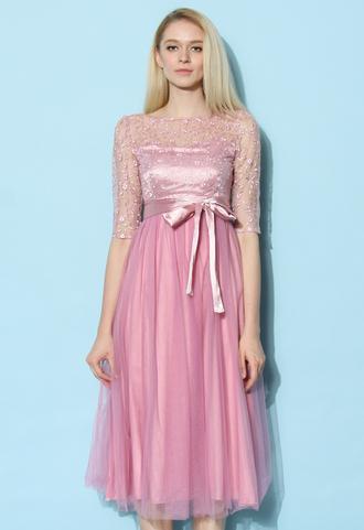 dress chicwish sakura fairy tulle prom dress party dress pink dress summer dress tulle dress prom dress dreamy dress chicwish.com