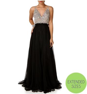 Nicolette-Black Prom Dress