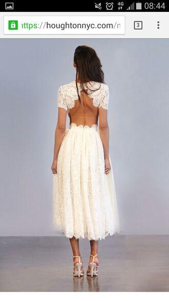 dress lace dress backless dress wedding dress