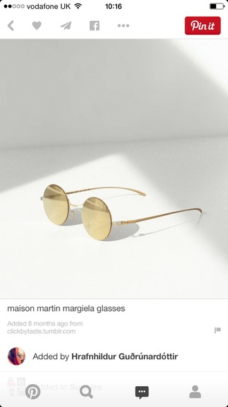 sunglasses gold round