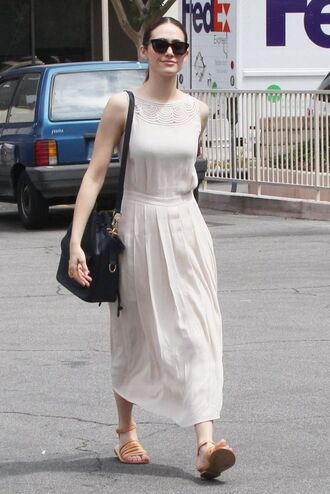dress midi dress emmy rossum sandals