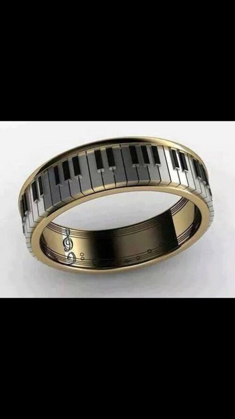jewels ring music note piano fashion style