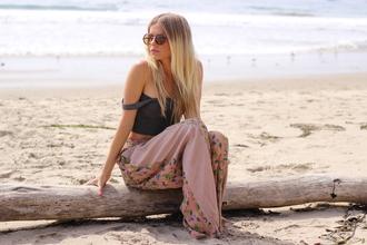 pants wide leg high waisted waist beach handmade