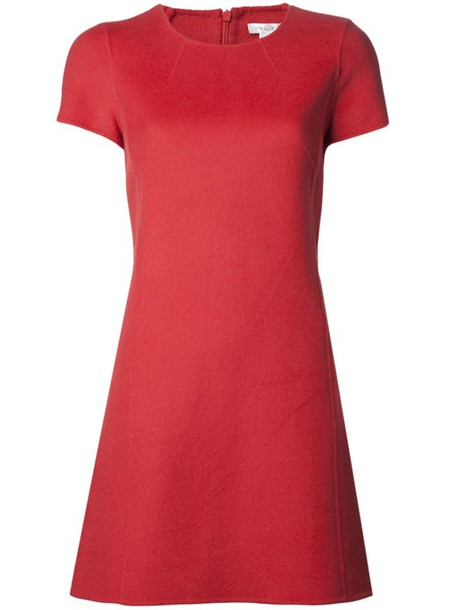 dress paule ka felt dress shift dress coral