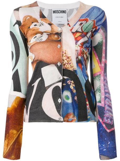 Moschino cardigan cardigan women print wool sweater
