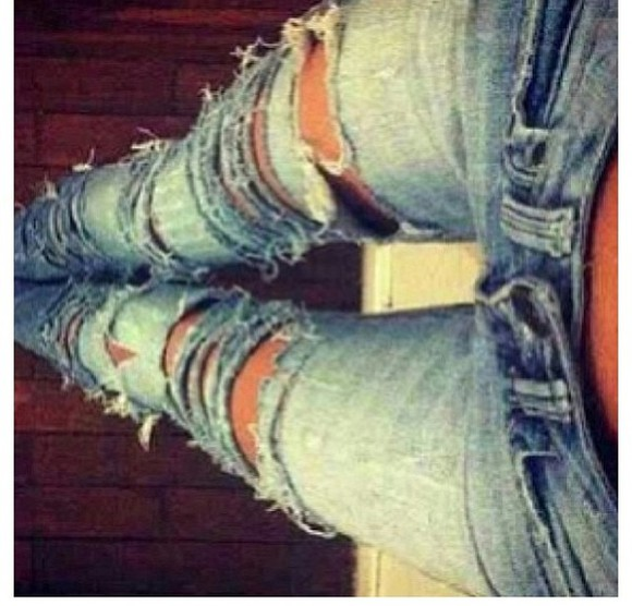 jeans holes blue jeans blue skinny jeans ripped light jeans