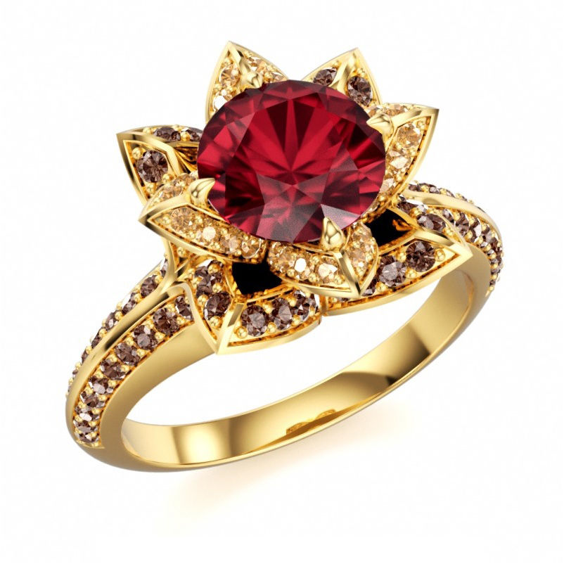 Engagement disney princess multi color cz ring in 14k gold plated 925 silver