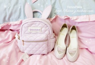 bag cute pastel bunny fairy kei girly shoes