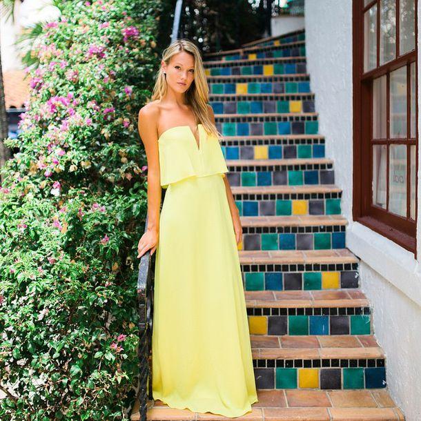dress, e's closet, yellow, yellow dress,