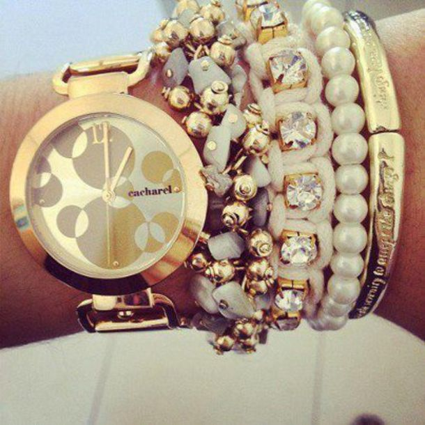 jewels gold watch watch gold watch cacharel gold gold bracelet