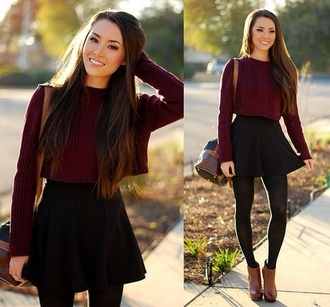 sweater skirt underwear shoes leggings fall outfits hapa time hapatime red lime sunday dress blouse circle skirt bag marron knitwear crochet exactly like the picture exact exactsweater burgundy sweater maroon/burgundy soft cheap cheap sweaters burgundy burgundy burgundy sweater dark red
