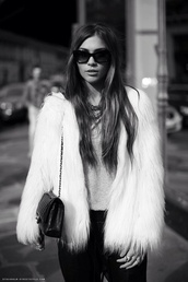 fur,fur coat,coat,white fur jacket,white,fall outfits,faux fur,winter outfits