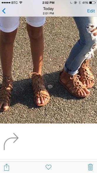 shoes flat sandals tan lace up lace up ankle boots