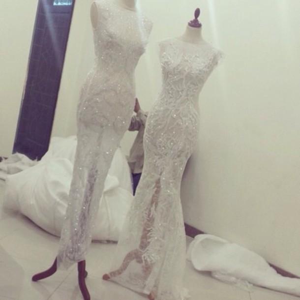 dress white dress prom dress wedding dress fancy dress long dress