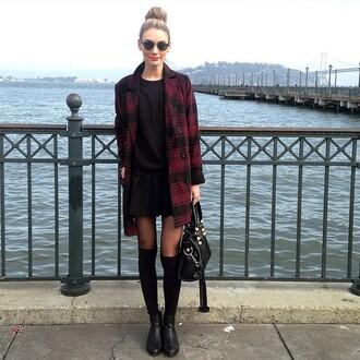 coat shoes jumper black sunglasses bulls black/red little black dress sunglasses
