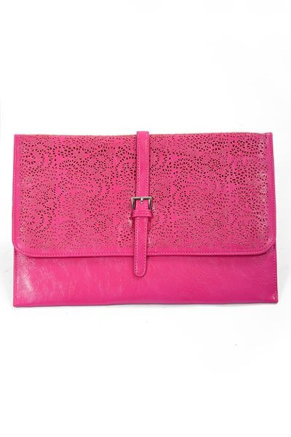 bag clutch cluch clutch pink pink clutch pink clutch bag pop of color oversized oversized clutch cutout pattern