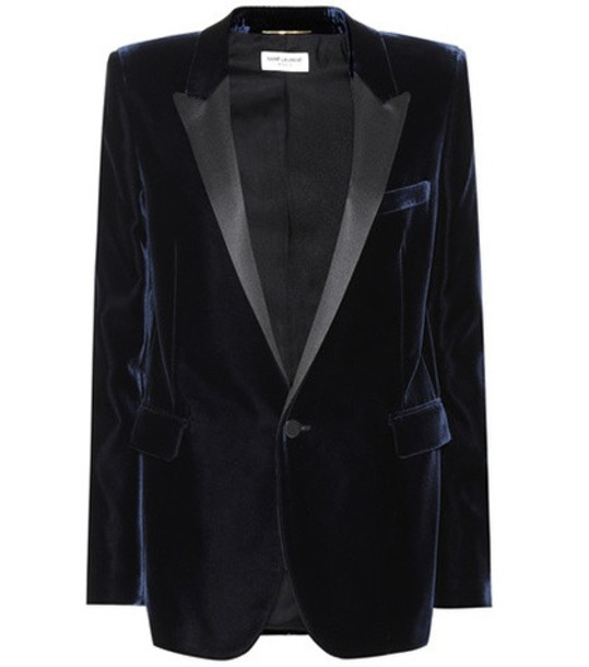 Saint Laurent Velvet jacket in blue