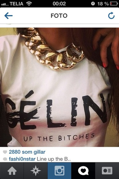 white tank top white t-shirt céline paris white t-shirt black text céline