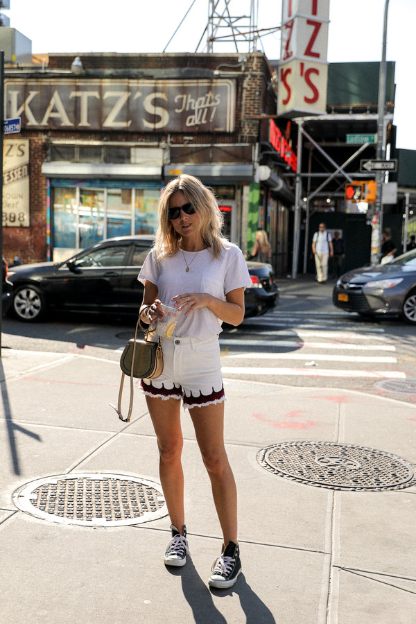 shorts black sneakers tumblr white shorts t-shirt white t-shirt sneakers converse summer outfits bag shoes