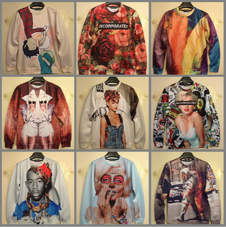 dope sweater urban adventure time rihanna tyler the creator marilyn monroe shirt