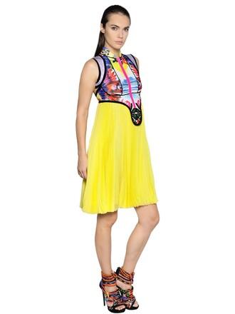 dress chiffon dress chiffon print exotic print yellow