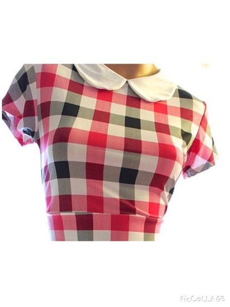 top checked crop top
