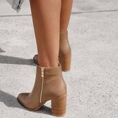 shoes,billini,boots,winter boots,booties,ankle boots,tan,black,heel,heels,tan boots,leather boots,winter outfits