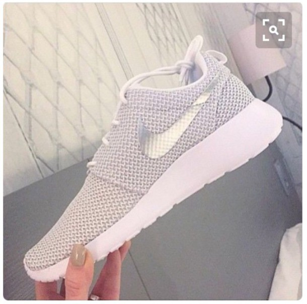 shoes run nike juvenate mesh grey silver white roshe runs sneakers grey  sneakers low top sneakers