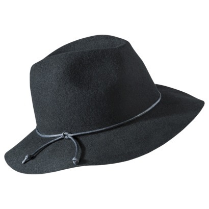 Mossimo Supply Co. Floppy Leather Tie  Hat - Black : Target
