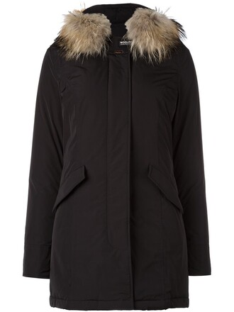 coat parka women black