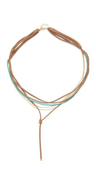 necklace choker necklace suede brown jewels