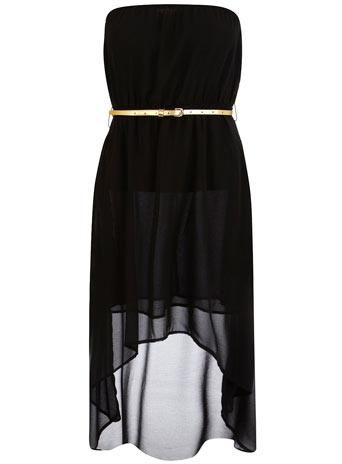 Robe asymétrique en mousseline noire