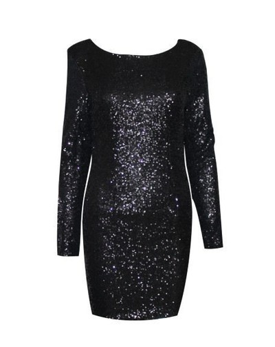 Sequined Fashion major Halter back dress long sleeve · Outletpad · Online Store Powered by Storenvy