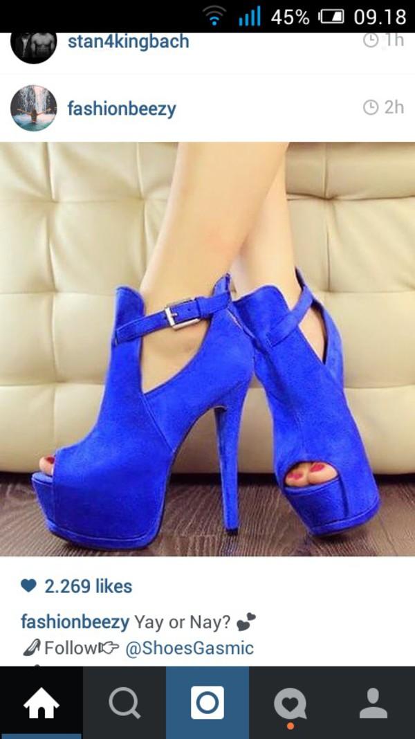 shoes girly tumblr blue high heels high heels