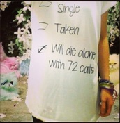 t-shirt,black,single,taken,will die alone with 72 cats