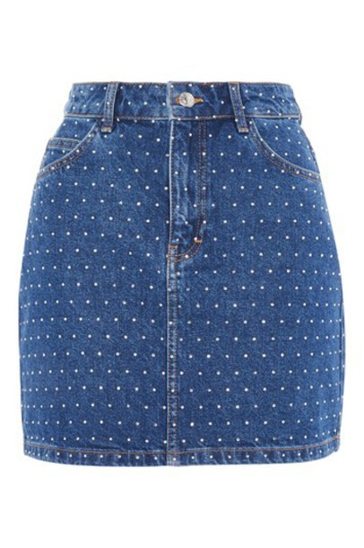 Topshop skirt denim skirt denim mini